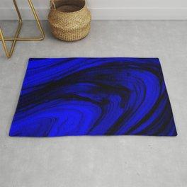 Marine Blue Ocean Vortex Rug