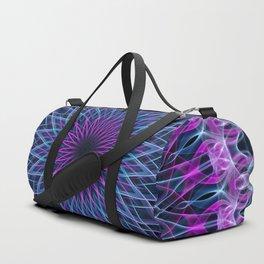 Pretty mandala in pink, blue and violet Duffle Bag