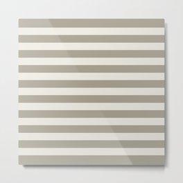 Gray Grey Alabaster Stripes Metal Print