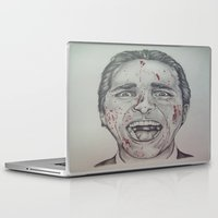 american psycho Laptop & iPad Skins featuring American Psycho by A.H.
