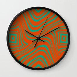 Zebra Grunge 8 Wall Clock