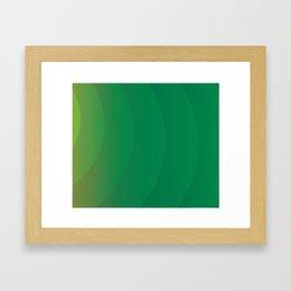 GREEN DESIGN Abstract Art Framed Art Print