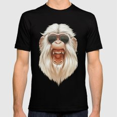 The Great White Angry Monkey X-LARGE Black Mens Fitted Tee