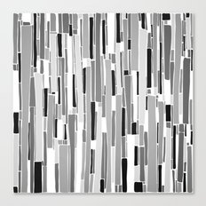 Stacked BW Canvas Print
