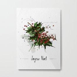Joyeux Noël Metal Print
