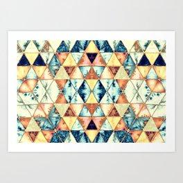 Boho Triangle Pattern II Art Print