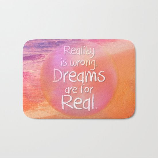 Beach Waves IV - Dreams and Reality Bath Mat