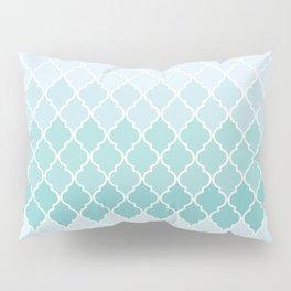 Ombre Moroccan Trellis, Latticework - Blue White Pillow Sham
