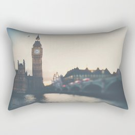 sunset over the city ... Rectangular Pillow