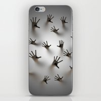 dark souls iPhone & iPod Skins featuring Lost souls by GrandeDuc