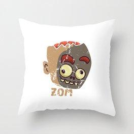 Cute Zombae Zombie Graphic Halloween  Throw Pillow