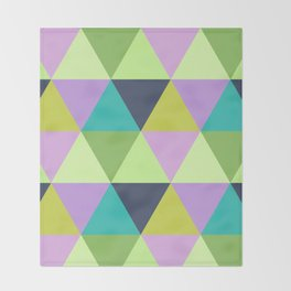 Light harlequin pastel quilt pattern Throw Blanket