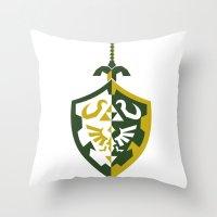 zelda Throw Pillows featuring Zelda by Brandon Riesgo