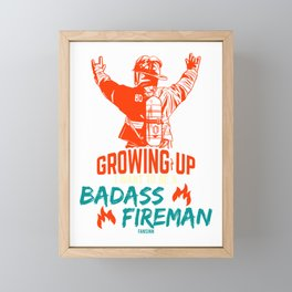 Firemen extinguisher Firefighter Uniform Framed Mini Art Print