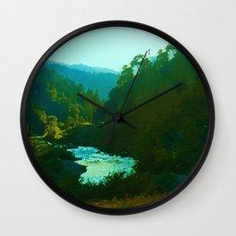 Runs To The Sea Wall Clock