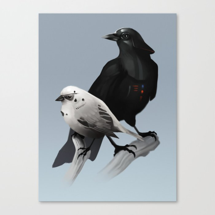 The Dark Side of the Flock Canvas Print