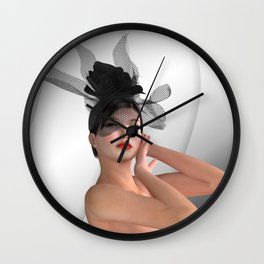 Isabella nude model Wall Clock