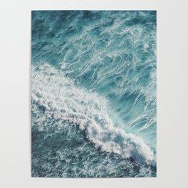 Saltwater Feelings Ocean Surf Poster
