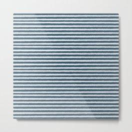 Watercolor Stripes Metal Print