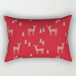 Rudolph christmas santa's reindeer forest winter deer Rectangular Pillow