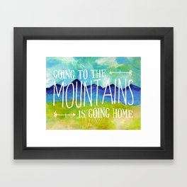 Going to the Mountains, Tetons Landscape Framed Art Print