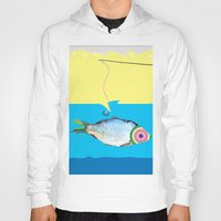 fishing Hoodies featuring Fishing by ilkai