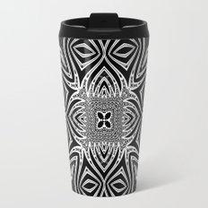 Black & White Tribal Symmetry Travel Mug