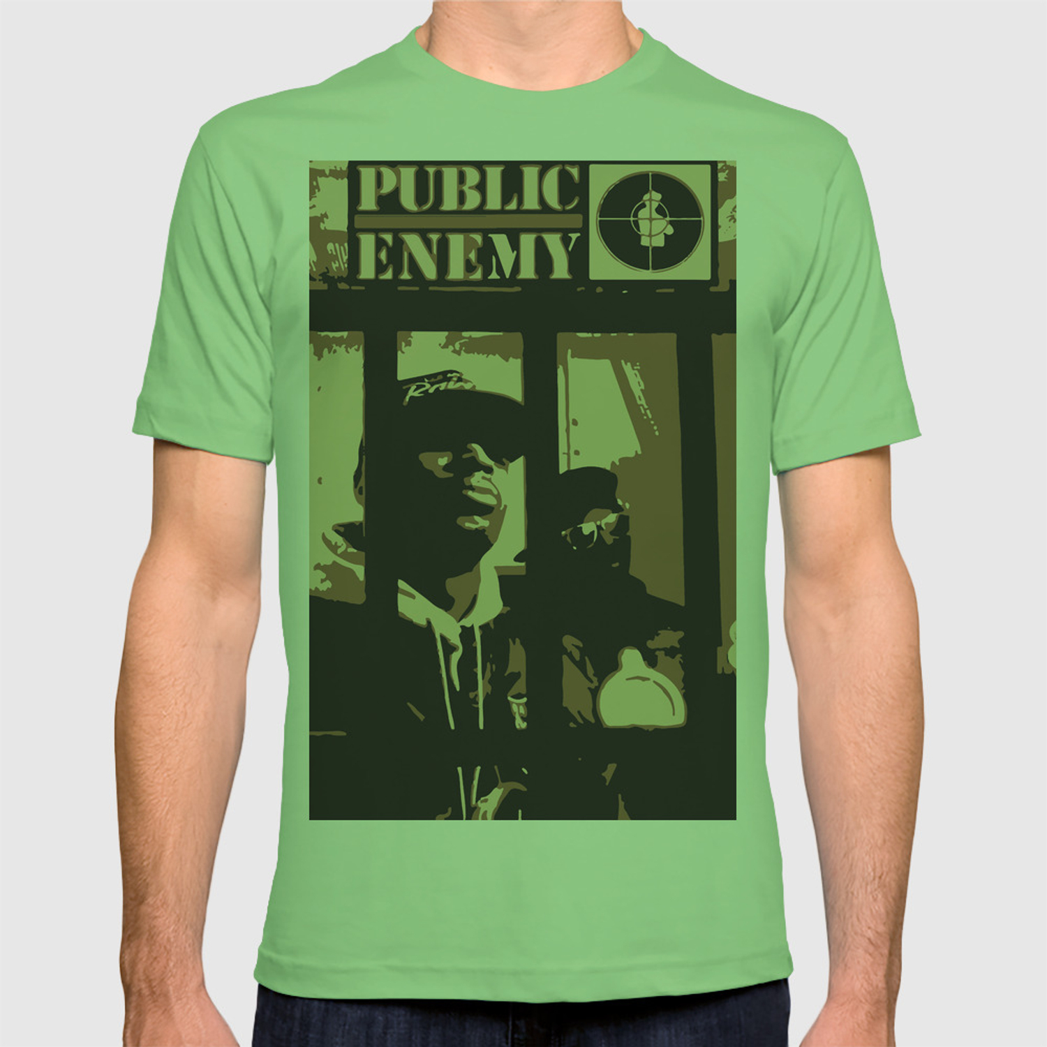 f3f91561 myfriendstoldmeaboutyou - Guide public enemy t shirt green->