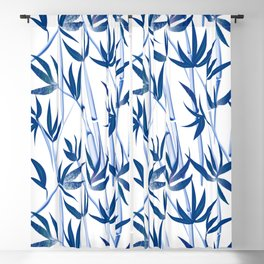 Blue bamboo tree seamless pattern  Blackout Curtain