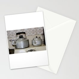Teapot and kettle vintage stove top Kitchen equipment Stationery Cards