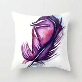 Purple Plume Throw Pillow