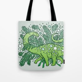 Winter Solstice Sauropod | Evergreens Palette Tote Bag