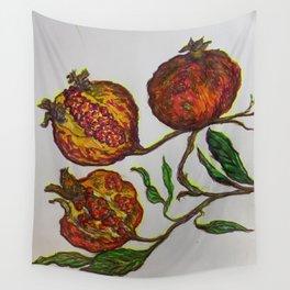 Pomegranates on Parade Wall Tapestry