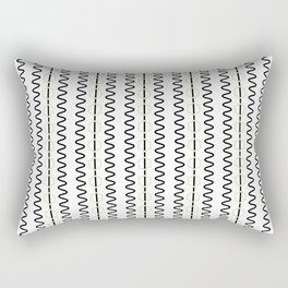 Smooth ZigZag Vertical Rectangular Pillow