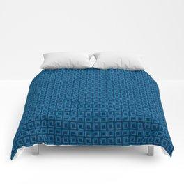 Blue Square Geometric Patterns Comforters