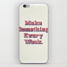 Make Something Every Week iPhone & iPod Skin