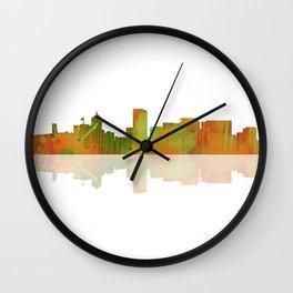 Portland Oregon Skyline Wall Clock
