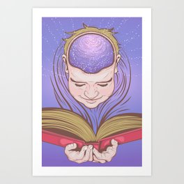 Reading Nirvana Art Print