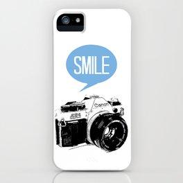 Vintage Canon Camera, Smile iPhone Case