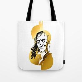 Niccolo Paganini and golden violin Tote Bag