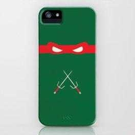 Red Ninja Turtles Raphael iPhone Case