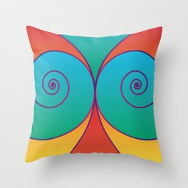 Swirly pretty thingies of goodness Throw Pillow
