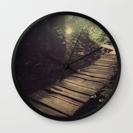 Forest Path Wall Clock