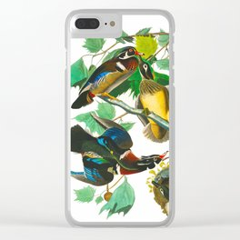 Summer Duck or Wood Duck Clear iPhone Case