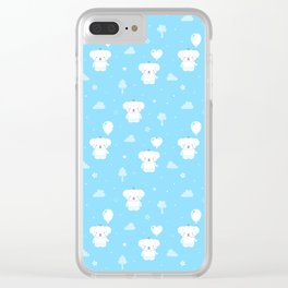 Baby Teddy Puppy Dogs Clear iPhone Case