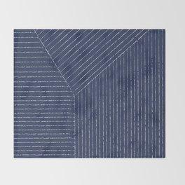 Lines (Navy) Throw Blanket