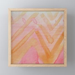 Firey Mountain Framed Mini Art Print