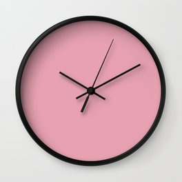 Rich Velvet Pink Rose Trendy Fashion Solid Color Wall Clock