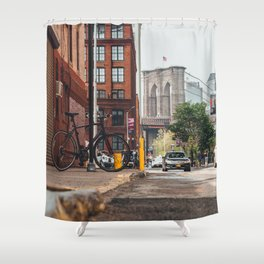 Crossing the divide Shower Curtain