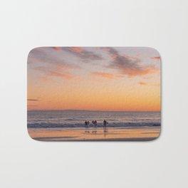 Surfers at Sunset in California Bath Mat